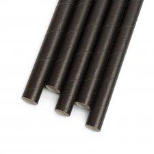 Papierová slamka - čierna