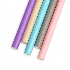 Papierová slamka - pastelová - 197 x 6 mm - 5 druhov - 150 ks / balenie