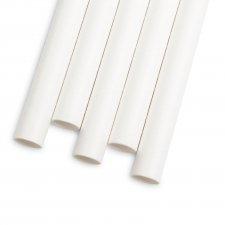 Papierová slamka - biela - 197 x 10 mm - 80 ks / balenie