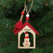 Ozdoba na vianočný strom - snehuliak - zavesiteľný - 17,5 x 7,5 cm
