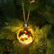 LED ozdoba na vianočný strom - teplá biela - 8 cm