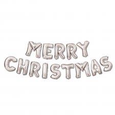 3D Vianočný nápis silver