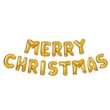3D Vianočný nápis gold