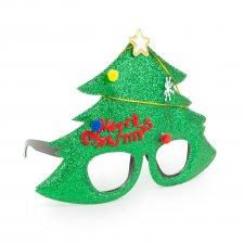Party okuliare - vzor vianočný strom