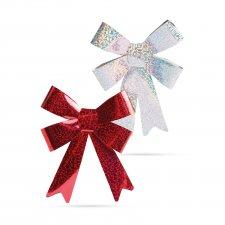 Mašľa na darček - lesklá - 13 x 10 cm - 2 druhy - 2 ks / balenie