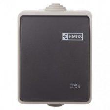 Prepínač nástenný č. 1,6 IP54, 1 tlačidlo