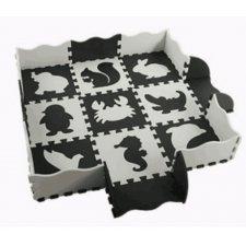 Penové puzzle pre deti čierna a biela - 25ks