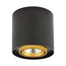 Podhľadové LED okrúhle svietidlo XENO 10W 3000K čierna – zlatá