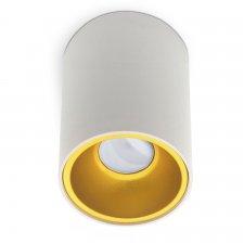Stropné bodové svietidlo okrúhle hliníkové GU10 35W bielo - zlatá