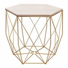 SPRINGOS drôtený konferenčný stolík Vintage hranatý 38,5cm - zlatý