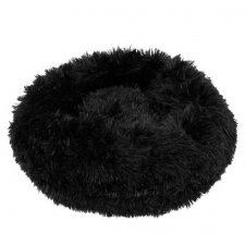 SPRINGOS Pelech pre psa a mačky plyšový 80cm - čierny