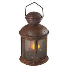 Svetelná dekorácia LED lampáš VINTAGE s čas. 3xAA tep. biela