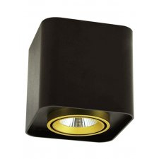 Podhľadové LED hranaté svietidlo XENO 15W 3000K čierna - zlato