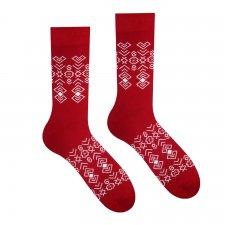 Veselé ponožky Čičman Bordový - 43-46
