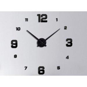 Veľké nástenné hodiny: čierne