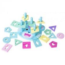 Vzdelávacia hračka Sorter 5 vežičiek